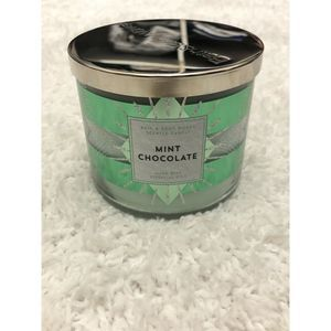 Mint Chocolate 3-Wick Candle Bath & Body Works NEW
